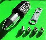 Nietgerät Nietaufsatz mit 1/4 zoll Bit Schaft für Bohrmaschine / Akku Schrauber