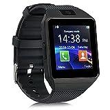Smart-Armbanduhr DZ09Bluetooth mit SIM-Card-Slot Tätigen Sie Anrufe 2.0 MP Schrittzähler Schlafüberwachung Kamera Unterstützung Nachrichten TF-Card Kompatible mit Android- oder iOS-System