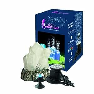 Hydor KB2300 Aquariendekoration Kit Kristall, mit LED und Bubble Maker
