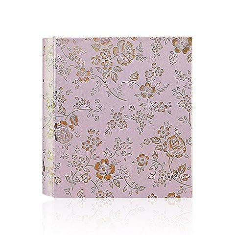 Zhi Jin Vintage Floral Leder Fotoalbum SLIP IN Halt 100Taschen 17,8x 12,7cm Bild Memory Geburtstag Hochzeit Alben Geschenk rose