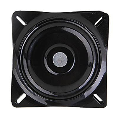 BQLZR A3 Steel Plate Black Ball Bearing Square Swivel Chair Swivel Turntable for Bar Stool Chair - low-cost UK light store.
