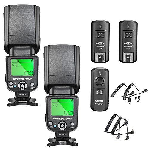 Neewer nw 561 schermo LCD flash Speedlite kit per Canon Nikon e altre fotocamere DSLR include nw 561 flash e GHz wireless Trigger