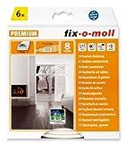 fix-o-moll D-Profildichtung 6 m 6 x 9 mm selbstklebend weiß, 3565265