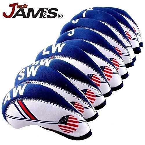 JamisDIRECT Golfschlägerhauben-Set mit USA-Flagge, Neopren, Eisen, Schutzhauben Set, offizielles Flaggen-Logo Schneller Versand -