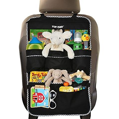Prima del asiento trasero Organizador para los niños, Coches - de gran tamaño, e-libro LIBRE, # 1 Accesorios niños, estera del coche Asiento Protector-Kick, de material resistente