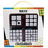 OJIN MoYu MOFANGJIAOSHI Cubing MFJS Classroom Cubo Speed Speed specifico 2x2 3x3 4x4 5x5 Cubo Magico Luminoso Cubo Liscio Set con Confezione Regalo + Treppiedi del cubo del Forno (Nero)