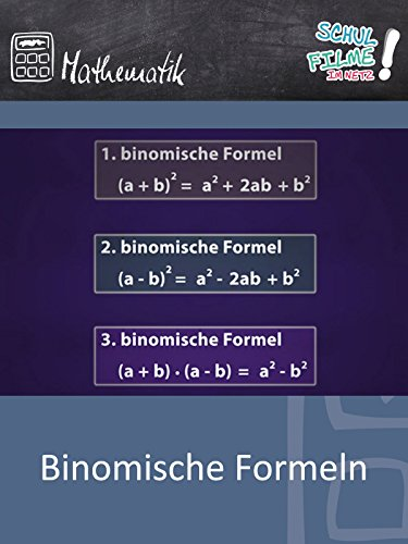Binomische Formeln - Schulfilm Mathematik