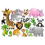 Bilderwelten Fenstersticker Fensterfolie Fensterbild Tiere des Dschungels HxB: 30 x 45cm