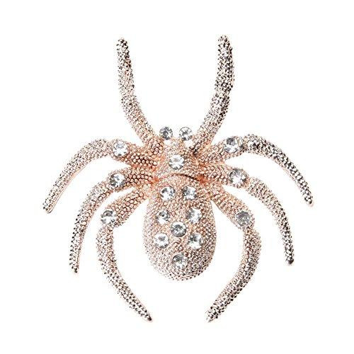 akaddy Crystal Rhinestone Spider Brooch Exquisite Corsage for Halloween (Namens Ideen Halloween-festival)