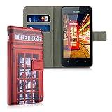 kwmobile Huawei Y625 Hülle - Kunstleder Wallet Case für Huawei Y625 mit Kartenfächern und Stand