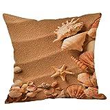 Xmansky Fundas De Cojine Estrella de mar Impresión Almohada Caso Decoración del Hogar para Sofá, Dormitorio, Salón, Playa oceano