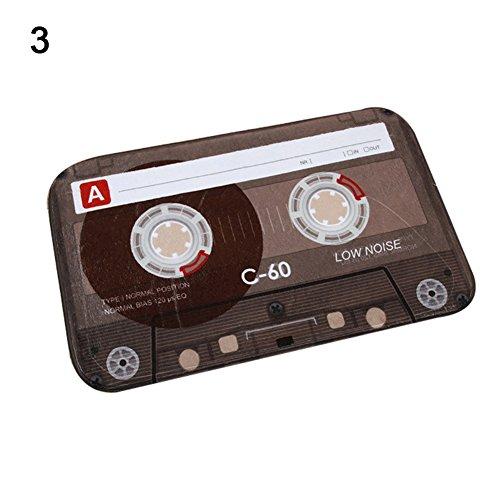 Pengyu Retro Creative Cassette - Felpudo de Cocina (40 x 60 cm), 3#, Talla única