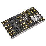 Siegen s01136-Werkzeug Tablett mit Haken & Schaber Set 18