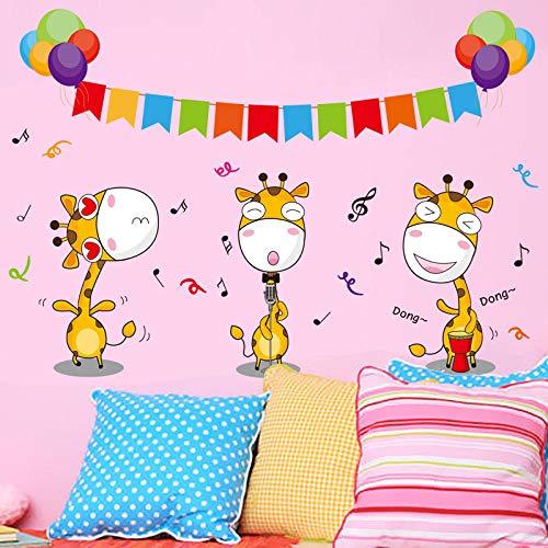 er Dekorative Aufkleber Szene Nette Musik Hirsch Kindergarten Hintergrund Dekoration Aufkleber Hirsch Karneval 30X40cm ()