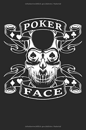Poker Face Notebook Journal: Dot Grid Journal or Notebook for your strategies of Poker (6x9 inches) 120 pages