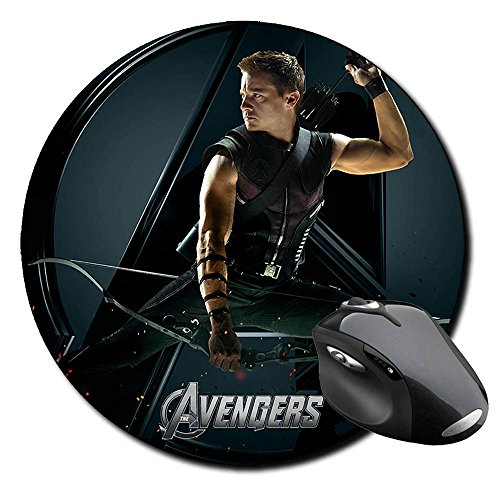 los-vengadores-the-avengers-hawkeye-jeremy-renner-b-runde-mauspad-round-mousepad-pc