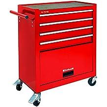 Einhell Werkstattwagen TC-TW 100 (max. 75 kg, 4 leichtgängige Schubladen, 4 drehbare Rollen)