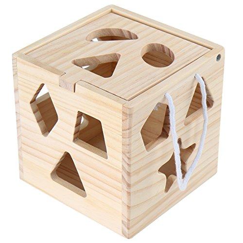 Cubo Clasificador Infantastic Figuras Madera De Juguete 13 Piezas SpVGqUzM