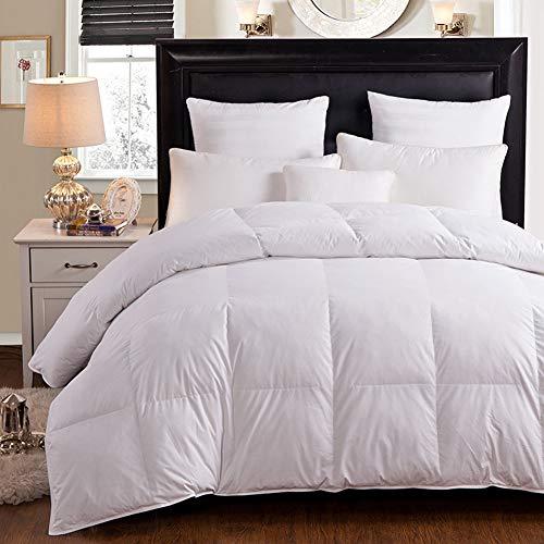 LSQ Daunendecke Daunendecke Weiß Rosa Beige Baumwollbezug King Queen Twin Size,White,200 * 230CM - Daunendecke Queen-size-weiße