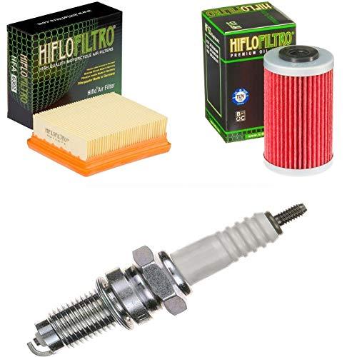 Luftfilter Ölfilter Zündkerze für Duke 200 ABS Baujahr 2013-2014 Servicekit Wartungskit -