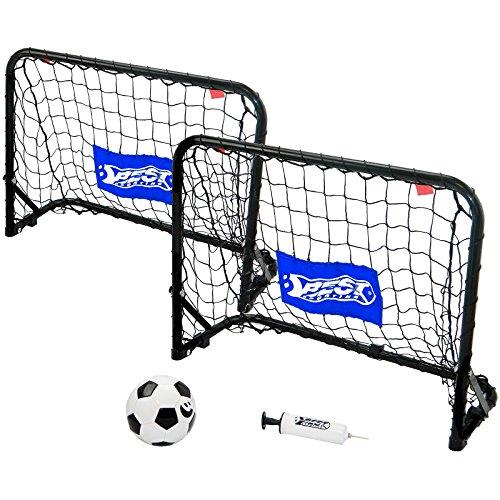 Best Sporting Unisex Jugend Goaly Set Mini-Fußballtor, Schwarz, One Size