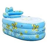 Gbf Aufblasbare Badewanne Verdicktes Erwachsenenbad Modische Klappbadewanne Kinderbadewanne zusammenklappbare Sprudelbadewanne entlasten Ermüdung (Color : Blue, Size : 160x90x75cm)