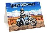 Harley Davidson Motorrad Geburtstagskarte
