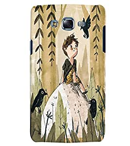 Citydreamz Boy in jungle/Abstract Design Hard Polycarbonate Designer Back Case Cover For Samsung Galaxy E5