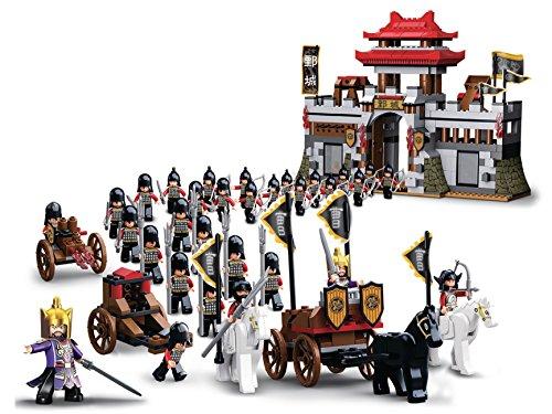 Lego-sets Weltkrieg (Funstones - Bausteine XXL Set : Schloss + Ritter + Pferde + Kutsche + Waffen)