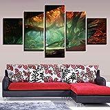cmhai Quadro HD Poster Quadro Quadro Art Quadro 5 Pezzi Fantasy World Paintings Forest Tree HoleImmagini astratte Home Decor-40x60cmx2 40x80cmx2 40x100cmx1