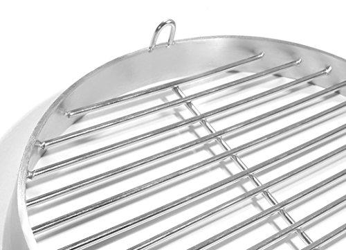 50cm Grill mit Halteösen, Edelstahl V2A Schwenkgrill, Schwenker Grillrost Feuerschalen Grillschalen Rundgrill