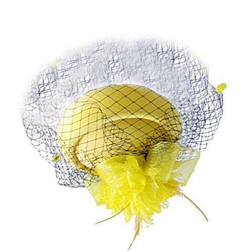FORLADY Net Garn Kopf Blume Hut Haarschmuck Kopf Ornamente Bühnenshow Schleier Schmuck Bankett Party Zubehör ()