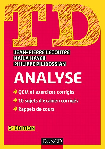 TD Analyse - 6e d. (Mathmatiques t. 1)