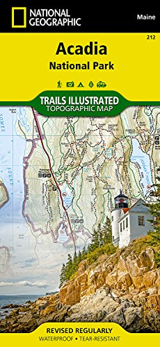 Acadia National Park Me (Acadia National Park, ME: National Geographic Trails Illustrated USA Nordosten (National Geographic Trails Illustrated Map, Band 212))