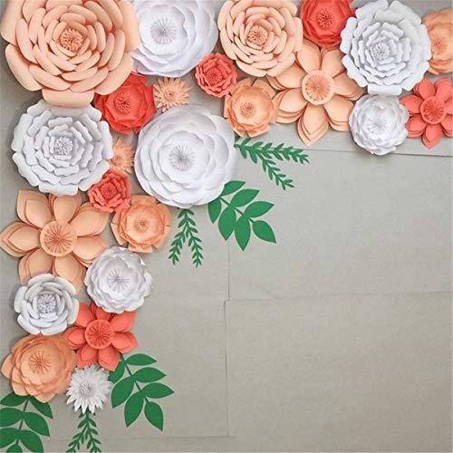 Bureze 30 cm DIY Papier Blumen Blätter Hintergrund Dekoration Kinder Geburtstag Party Hochzeit Gastgeschenk (Diy Blume Hintergrund Papier)