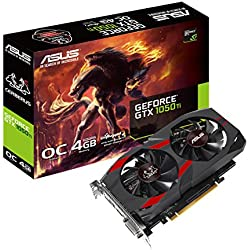 ASUS Cerberus GeForce GTX 1050 Ti 4GB OC Edition GDDR5 Gaming Graphics Card (Cerberus-GTX1050Ti-O4G)