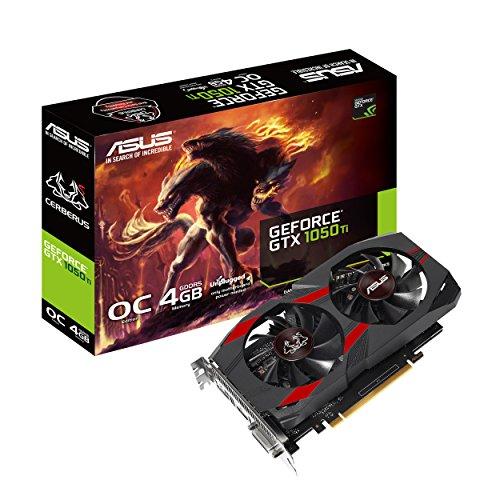ASUS Cerberus GeForce GTX 1050 Ti 4GB OC Edition GDDR5 Gaming Graphics Card (Cerberus-GTX1050Ti-O4G)
