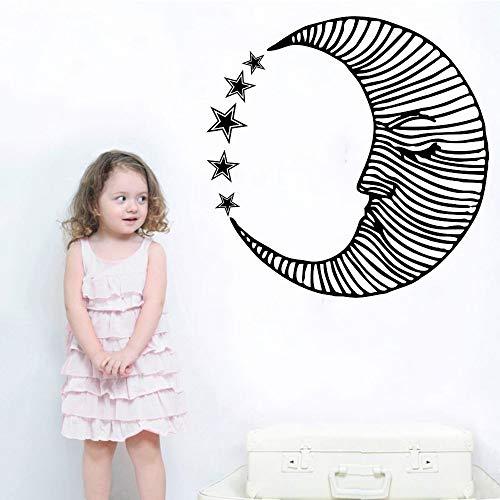 Zaosan Wand-Wand-Mondmuster der schönen Wandabziehbildschlafzimmerkindergartenmode des Mondgesichtskunstentwurfs kreativen dekorativen mit