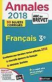 Annales ABC du Brevet 2018 - Français
