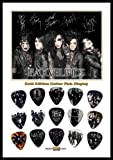 Black Veil Brides Présentoir de 15 Médiators - Gold Edition - Taille A4