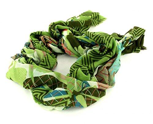 Oilily Schal Tuch Botanic Pop Nori Green 100 x 200 cm, 100% Polyester
