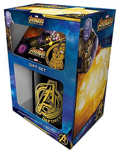 Cup of Tees Avengers Infinity War Mug, Coaster and Keychain Gift Set