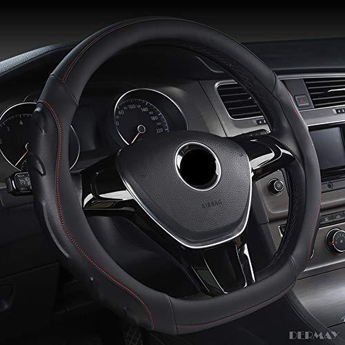 Preisvergleich Produktbild ANNIGI D Form Lenkrad Schwarz Auto Auto Lenkradbezug