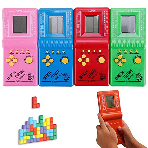 Kinbelle - Juego de mano Tetris juguetes clásicos de bolsillo con arcada LCD, diseño vintage de ladrillo