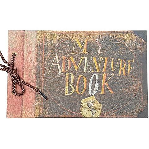 My Adventure Book Pixar Up handgefertigt Scrapbook/Fotoalbum, braun, My Adventure