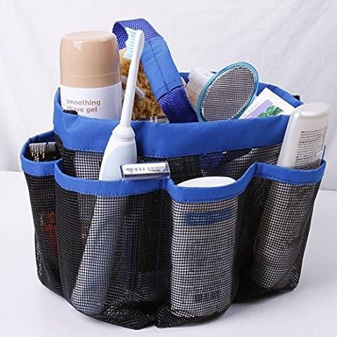 Hunpta Maille Caddy de Douche Tote Trousse de toilette ou de salle de bain Caddy Organiseur avec 8poches de panier de stockage Package