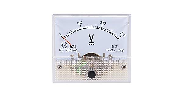 Sourcing Map Dc 0 300v Analog Platte Spannungsmesser Voltmeter Messgerät 85c1 2 5 Fehler De De Baumarkt