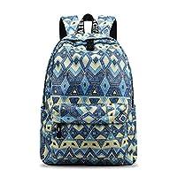 YANAIER Waterproof School Backpack for Girls Teens Cute Print Bookbag Laptop Backpack Women Travel Casual Daypack
