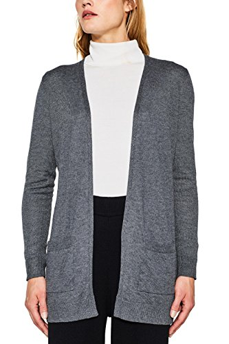 ESPRIT Damen Strickjacke 087EE1I025, Grau (Shadowy Grey 5 024), Small