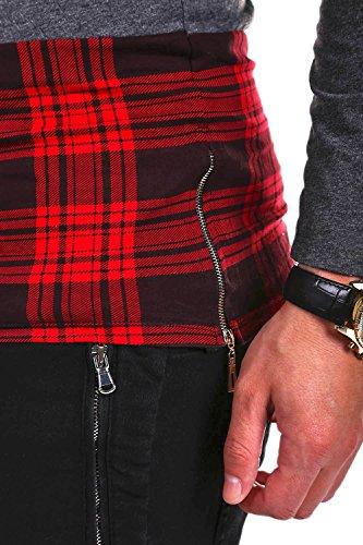 MT Styles Longline Longsleeve T-Shirt W-716 Dunkelgrau